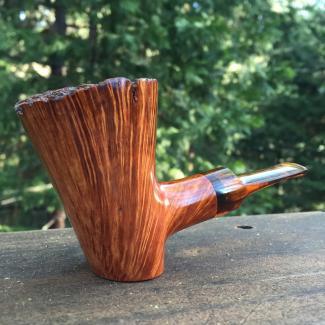 Mt Whitney Straight Grain Poker - Handmade Tobacco Pipe