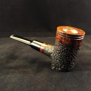 Chewing Gum Lake rusticated poker style briar pipe