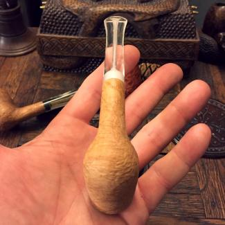 Natural Billiard Tobacco Pipe