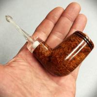 smooth billiard nose warmer tobacco pipe