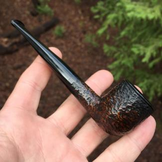 Rustic Poker Tobacco Pipe