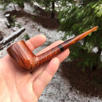 Smooth billiard tobacco pipe