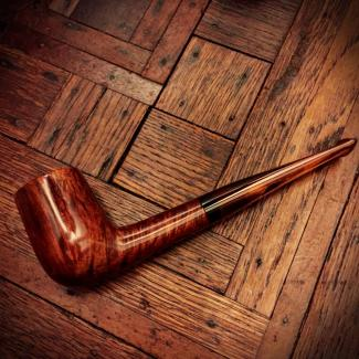 Smooth billiard tobacco pipe