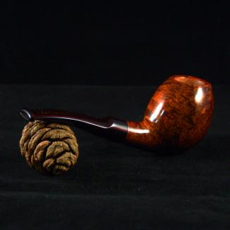 Smooth Freehand Tobacco Pipe with Cumberland Stem by Kraig Sederquist
