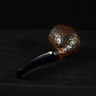 Rustic freehand tobacco pipe by Kraig Sederquist