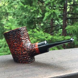 Rustic Poker Tobacco Pipe by Kraig Sederquist
