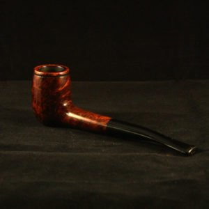 Smooth billiard tobacco pipe by Kraig Sederquist