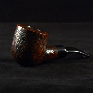 Rustic bent pot tobacco pipe by Kraig Sederquist