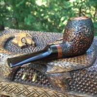 Sierra Tadpole Tobacco Pipe - rustic pipe with German Cumberland Stem
