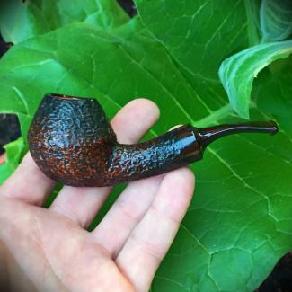 Rustic Rhodesian Tobacco Pipe with Cumberland Stem by Kraig Sederquist