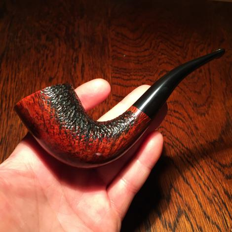 Horn tobacco pipe hand made SederCraft