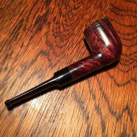 light weight billiard tobacco pipe with straight grain