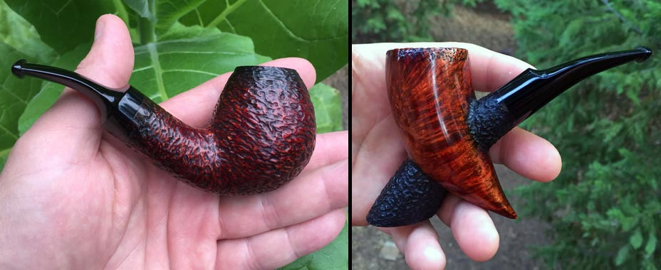 Rustic Bent Egg and Horn - SederCraft Handmade Tobacco Pipes