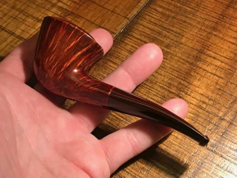 Freehand Dublin Tobacco with beautiful grain and cumberland stem