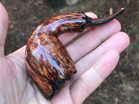 Freehand rustic tobacco pipe by Kraig Sederquist