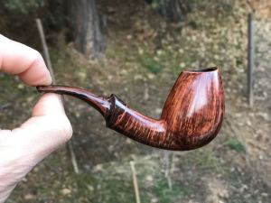handmade bent Danish egg tobacco pipe by Kraig Sederquist