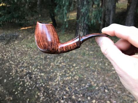 handmade bent Danish egg tobacco pipe by Kraig Sederquist