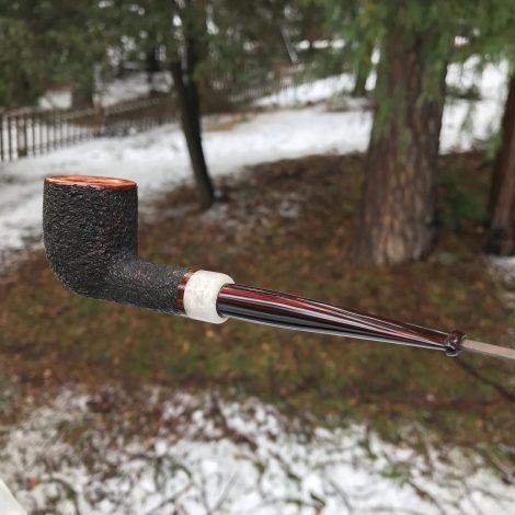 The Kennedy Meadows straight tobacco pipe by Kraig Sederquist