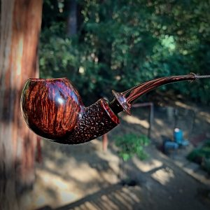 Danish style tobacco pipe with military mount by Kraig Sederquist