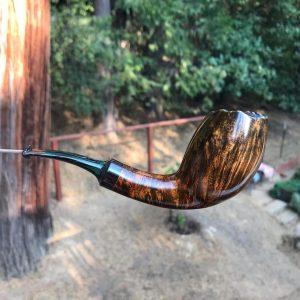 Danish style smooth tobacco pipe by Kraig Sederquist