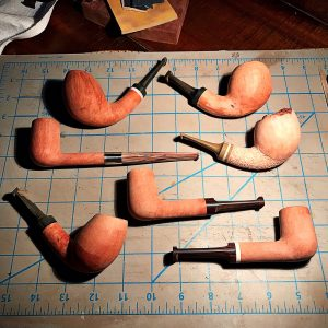 SederCraft tobacco pipes in the process of being made